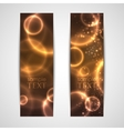 set of abstract glowing banners vector image vector image
