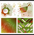 set of modern art abstract banner square frame vector image vector image