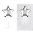 Set silver star foil balloons on transparent