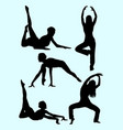 silhouette of active woman vector image