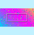 spectrum festive background with colorful confetti vector image vector image