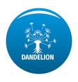 spring dandelion logo icon blue vector image