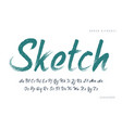 stylish painted a brush uppercase vector image vector image