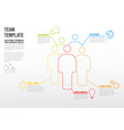 thinline team infographic template vector image vector image