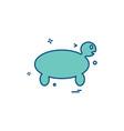 turtle icon design vector image vector image
