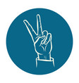 victory hand gesture vector image