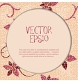 Vintage card with floral mosaic frame vector image vector image