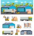 Warehouse Logistics Concept vector image vector image