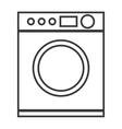 washing machine isolated icon design vector image