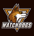watch dogs sign and symbol logo vector image vector image