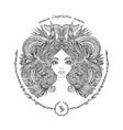 zodiac sign portrait a woman capricorn vector image vector image