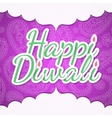 Happy Diwali design vector image