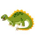 Cartoon happy dinosaur with white bankground vector image