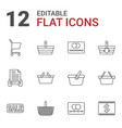 12 purchase icons vector image vector image