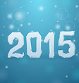 2015 Ice New Year background vector image vector image