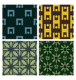 4 Retro different seamless patterns vector image vector image