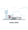 airplane in airport vector image vector image