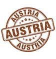 austria brown grunge round vintage rubber stamp