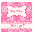 Baby-shower-abstract-background-girl vector image vector image