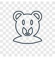 bear concept linear icon isolated on transparent vector image