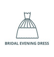 bridal evening dress line icon bridal vector image vector image