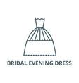bridal evening dress line icon bridal vector image