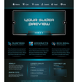 business web template vector image vector image