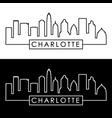 charlotte skyline linear style editable file vector image vector image