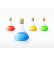 chemical laboratory glassware vector image