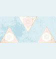chic geometric banner pastel gold vector image vector image