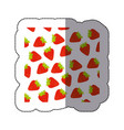 color strawberry fruit background icon vector image vector image