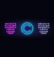 copyright neon sign copyrights design vector image vector image