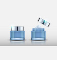 cosmetic bottles vector image vector image