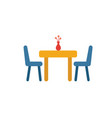 dining room icon simple element from real estate vector image vector image
