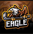 eagle sport esport mascot logo vector image vector image