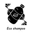 eco shampoo glyph icon vector image vector image