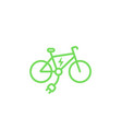 Electric bike icon e-bike