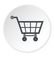empty supermarket cart icon circle vector image
