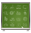 entertainment objects icons vector image