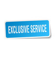 exclusive service square sticker on white vector image vector image
