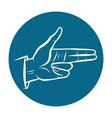 fingers gun hand gesture vector image vector image