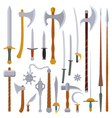 flat design colors medieval weapon set vector image vector image