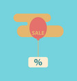 flat icon of sale balloon in the sky vector image vector image