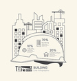 Flat linear Infographic Construction Helmet vector image