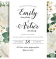 Floral wedding invitation save date card