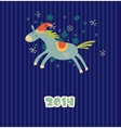 Funny Christmas horse vector image vector image