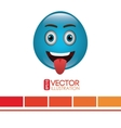 funny emoticon design vector image vector image