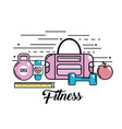 healthy activity tools to lifestyle practice vector image vector image