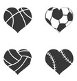 heart ball icon vector image vector image