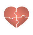 Heart Jigsaw Puzzle vector image vector image